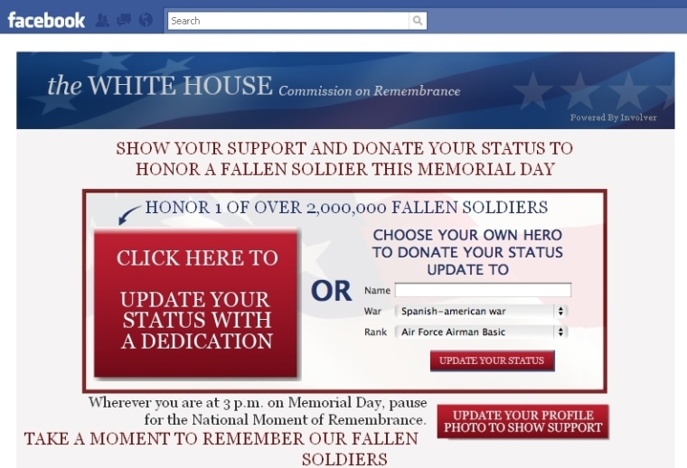 The application, which officially goes live on Memorial Day, is being promoted by other government and U.S. military Facebook pages.